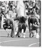 Olympic Medal Winners Pray In Thanks Acrylic Print