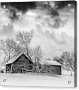 On A Winter Day Monochrome Acrylic Print