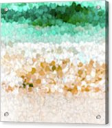 On The Beach Abstract Painting Acrylic Print