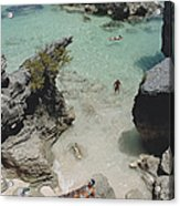 On The Beach In Bermuda Acrylic Print