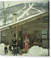 On The Slopes In Stowe Acrylic Print