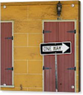 One Way, Love Acrylic Print