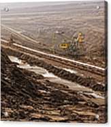 Open Strip Coal Mine Acrylic Print
