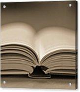 Open Text Book Acrylic Print