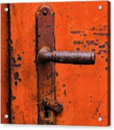 Orange Door Handle Acrylic Print
