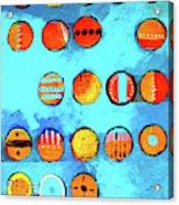 Orange Dots Acrylic Print