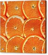 Orange Fruit Slices Acrylic Print