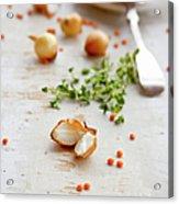 Orange Lentil, Onions, Thyme Acrylic Print