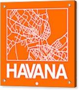 Orange Map Of Havana Acrylic Print