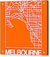 Orange Map Of Melbourne Acrylic Print