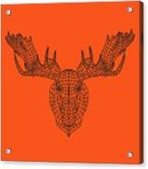 Orange Moose Acrylic Print