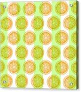 Orange Slice Pattern 2 - Tropical Pattern - Tropical Print - Lemon - Orange - Fruit - Tangerine Acrylic Print