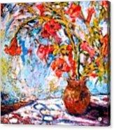 Orange Trumpet Flowers Acrylic Print
