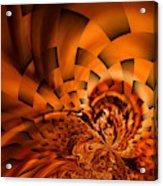 Orange Weave Acrylic Print