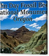 Oregon - John Day Fossil Beds National Monument Blue Basin Acrylic Print