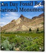 Oregon - John Day Fossil Beds National Monument Sheep Rock 1 Acrylic Print