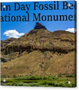 Oregon - John Day Fossil Beds National Monument Sheep Rock 2 Acrylic Print