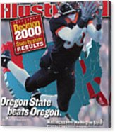 Oregon State University Chad Johnson Sports Illustrated Cover Acrylic Print