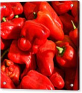 Organic Red Peppers Acrylic Print