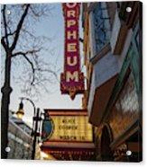 Orpheum Theater Madison, Alice Cooper Headlining Acrylic Print