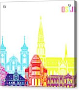 Osijek Skyline Pop Acrylic Print