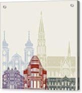 Osijek Skyline Poster  Acrylic Print
