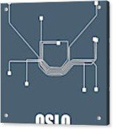 Oslo Subway Map Acrylic Print