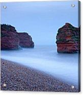 Otterton Sandstone Cliffs And Seastack Acrylic Print