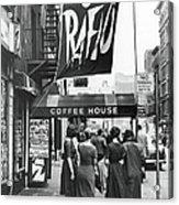 Outside The Cafe Rafio Acrylic Print
