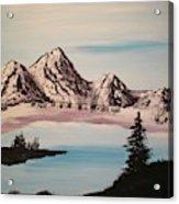 Overlooking The Lake Acrylic Print