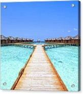 Overwater Bungalows Boardwalk Acrylic Print