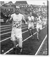 Paavo Nurmi Winning Olympic Track Race Acrylic Print