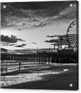 Pacific Park - Black And White Acrylic Print