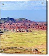Painted Desert Panorama Acrylic Print