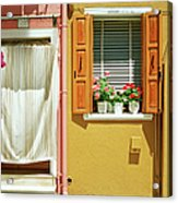 Painted House In Burano Acrylic Print