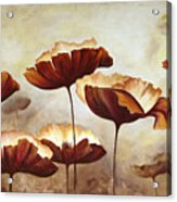 Painting Poppies With Texture Acrylic Print