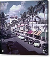 Palm Beach Street Acrylic Print