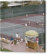 Palm Springs Tennis Club Acrylic Print