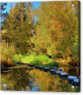 Palouse River Reflections Acrylic Print