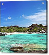 Panorama Of Spring Bay And The Baths Acrylic Print