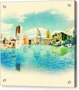 Panoramic Water Color Illustration San Acrylic Print