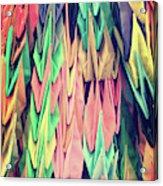 Paper Cranes Acrylic Print