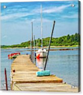 Paradise Sailing Day In Maine Acrylic Print