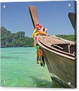 Paradise Tropical Beach With Longtail Acrylic Print