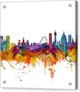 Paris and London Skylines mashup Acrylic Print