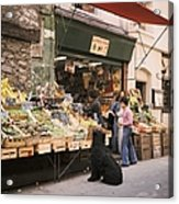 Paris, Fruit And Vegetable Shop In The Acrylic Print