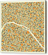 Paris Map 1 Acrylic Print