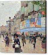 Paris, Rue Du Havre Circa 1882 Acrylic Print