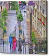 Paris Sous La Pluie Acrylic Print