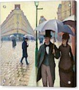 Paris Street In Rainy Weather - Digital Remastered Edition Acrylic Print